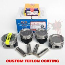75mm D16 YCP Vitara TURBO Pistons & NPR Rings TEFLON COATED Honda Civic CRX JDM