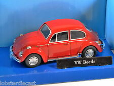 VOLKSWAGEN BEETLE 1200 in Red 1/43 scale model by Cararama