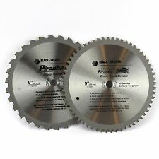 2 PIRANHA 230MM x 16MM 30T & 60T CURVED TOOTH TCT CIRCULAR SAW BLADES