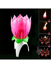 Singing Happy Birthday Candle Musical Magical Blossom Candle, USA Seller!!
