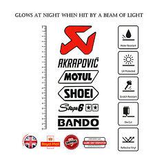 6 un. Motul Shoei bando etapa 6 MOTO GP DECAL Sticker Set Vinilo reflexivo F322