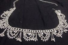 Kuchi women silver coin Hip Belt Belly Dance metal waist club boho India scarf