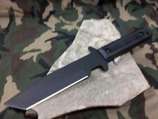 "Cold Steel GI Tanto Knife 12"" Full Tang Fixed Black Tactical W/ Secure-Ex 80pgtk"