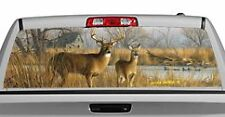 Truck Rear Window Decal Graphic [Deer / Our Side Of The River] 20x65in DC68305