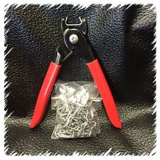 "Hog Ring Pliers (Lg) and 200 Hog Rings 3/4"" Seat Covers Upholstery Fences Cages"