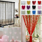 Heart Love Line Tassel String Door Curtain Window Room Divider Curtain Valance