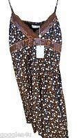 Almost Famous Dress 14 Brown shift dress party circles