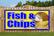 FISH AND CHIPS OUTDOOR BANNER RETAIL SHOP BANNERS SIGNS SIGN ADVERTISING