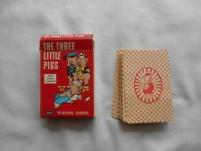THE THREE LITTLE PIGS PLAYING CARDS-1965-RUSSEL-40 CARDS-NICE!!!
