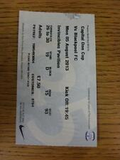 05/08/2013 BIGLIETTO: Preston North End V BLACKPOOL FOOTBALL LEAGUE CUP []. questo è