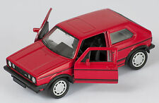 BLITZ VERSAND VW GOLF 1 GTI rot / red Welly Modell Auto 1:34 NEU & OVP