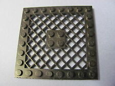 LEGO 4151 @@ Plate, Modified 8 x 8 with Grille  (x1) @@ WHITE @@ BLANC
