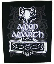 AMON AMARTH Backpatch 'THORS HAMMER' Rückenaufnäher ♫ Viking Death Metal ♫