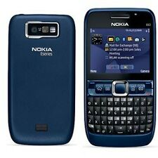 New Nokia E63 Qwerty keypad phone with box & genuine accessories - Blue!