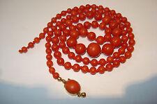 Antiguedad corales cadena 750er Gold old natural coral Necklace 25g lachskoralle Alt