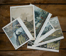 c1850 Schweiz la Suisse Obwalden Uri Tessin Schwyz 6 Kolorierte Kupferstiche