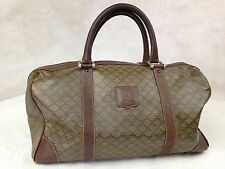 Auth CELINE Vintage Macadam Pattern  Boston Hand Bag 5E059860#