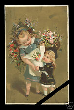 Vintage French Trade Card: Folk Art Early 1900's Chromlithography