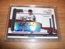 2003 MLB Baseball Piece Of The Game Kirk Saarloos Rookie Auto Jersey Card Rare