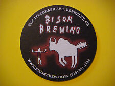 Beer Coaster Mat: BISON Brewing ~ Berkeley, CALIFORNIA ~ Archaeologists Painting