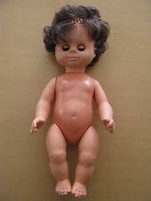 Alte Puppe  ohne Kleider Schlafaugen blaue Augen Mädchenpuppe 34 cm lang
