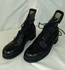 Addison Shoe Company Wide Black Combat Boots 1970 Men's Size 9R   STEELE TOE