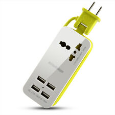Multifunction Travel Wall Charger 4 USB Ports Universal Power Socket Portable