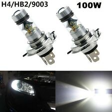 2x 7500K H4 100W Bright White CREE LED Fog Daytime Light Lamp bulb Driving DRL