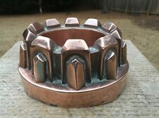 Antique Victorian Copper Jelly Mold Mould Benham Froud Style Gothic Crown Design