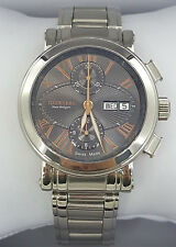 Tourneau Men's Gotham Stainless Automatic Chronograph Day-Date Watch
