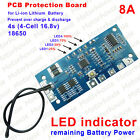 16.8V 8A Protection Board for 4 Packs Li-ion Lithium 18650 Battery Charger w/LED