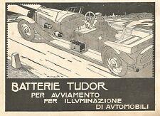Y2769 Batterie Tudor - Illustrazione - Pubblicità del 1922 - Old advertising