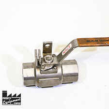 "1"" WKM 1 Peice Ball Valve B136-S8-13-S2 Stainless Steel 3000 MOP - Free Shipping"