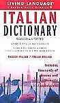 Italian Dictionary (Complete Basic Courses), Living Language, Good Condition, Bo