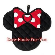 "Disney Parks ""Minnie Mouse"" Icon Pot Holder Hand Mitt Oven Glove Hot Pad (NEW)"