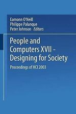 People and Computers XVII  -  Designing for Society: Proceedings of HCI 2003 (BC