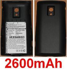 Coque Noir + Batterie 2600mAh Pour SONY ERICSSON Xperia X10, Xperia X10a