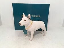 Dog Studies by Leonardo English Bull Terrier Figurine Ornament *BRAND NEW BOXED*