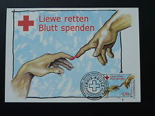 Red Cross world day of blood giving maximum card Luxembourg 2006
