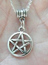 "4 Pieces PENTAGRAM Necklaces Charm 5 POINT STAR 20"" Chain Pentagon LOT OF 4 NEW!"