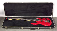 Beautiful Transparent Red Carvin USA 4 String Jazz Bass w/ Hard Case