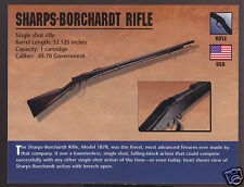 SHARPS-BORCHARDT RIFLE (Model 1878) .45-70 Atlas Classic Firearms Gun PHOTO CARD