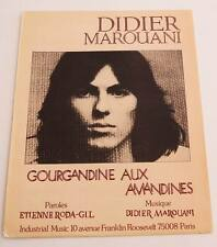 Partition sheet music DIDIER MAROUANI : Gourgandine aux Amandines *70's RODA GIL