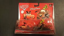 DISNEY PARKS PIXAR CARS MCQUEEN MICKEY MATER GOOFY 2 PACK 2015 SAVE 5% WORLDWIDE