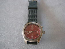 "VINTAGE SEIKO ""AGS""  KINETIC 5M22-6030 RED DIAL VERY NICE"