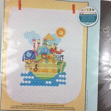 Noah's Ark Animals Quilt Cross Stitch Kit Dimensions New 34x43 Baby Bible Story
