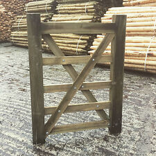 3ft 5 Bar Wooden Diamond Braced Farm Field Entrance Pathway Gate 0.9m 90cm