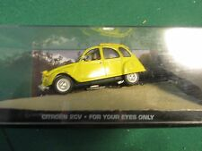 JAMES BOND CARS COLLECTION 005 CITROEN 2CV FOR YOUR EYES  SLIGHTLY CRACKED CASE