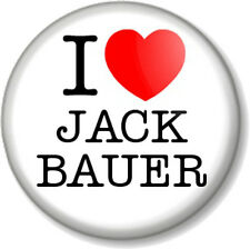 "I Love / Heart Jack Bauer 1"" 25mm Pin Button Badge 24 Counter Terrorist Unit CTU"