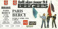 RARE / TICKET CONCERT - BEE GEES LIVE AT PARIS BERCY 11 AVRIL 1994 / COMME NEUF